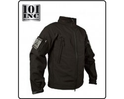 Giacca Giubbino Impermeabile Soft Shell Jack Tactical Waterprof Softshell PCU Nera 101 INC Originale Art.129840