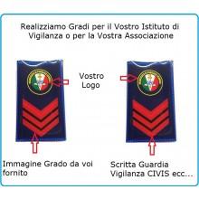 Gradi Tubolari Personalizzati per Divise Corpi Polizia Uniformi Istituti di Vigilanza Guardie Giurate Art.NSD-TPERS