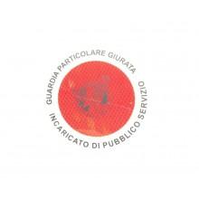 Adesivo 3M Per Paletta Rosso G.P.G. I.P.S. Guardia Particolare Giurata Incaricato di Pubblico Servizio GPGIPS Art. R00129