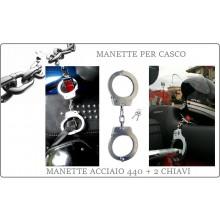 Antifurto Casco Manette Handcuffs Acciaio per Casco Moto Bikers Idea Anti Furto Art.BIKERSOE61