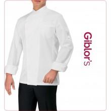 Giacca Cuoco Chef Gabriel  Bianca  Personalizzabile con Nome Giblor's Art.13P08G301