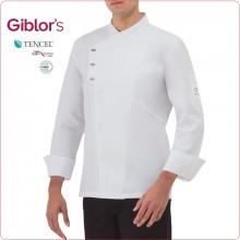 Giacca Cuoco Chef Bianca o Nera EMANUEL Possibilità di Personalizzazione con Nome Ricamato Giblor's Art.17P08