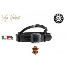 Cinturone in Cuoio con Bretella Regolabile Nera Vega Holster Italia Vigilanza GPG IPS Art. 1V54