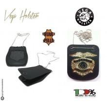 Porta Placca Doppio Uso Collo - Cintura Guardia Giurata  Vega Holster Italia Art. 1WB73