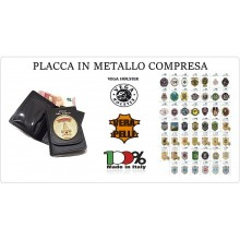 Portafoglio Portadocumenti in Vera Pelle Vega Holster Italia  DECIDI CON CHE PLACCA Art.1WD?