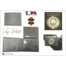 Portafoglio Portadocumenti con Placca Estraibile Associazione Europea Operatori di Polizia  A.E.O.P.  Vega Holster Italia Art.1WG122