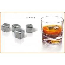 Cubetti di Ghiaccio in Acciaio Inox Per Non Diluire il Tuo Buon Liquore Vin Bouqet Art.FIE015