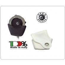 Porta Manette Professionale Aperto in Ballistic Termo Formato Nero Bianco Blu  Vega Holster Italia Carabinieri Polizia G. di F. Art.2FP26
