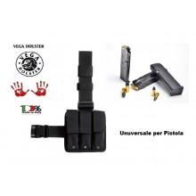 Kit Cosciale Cordura Triplo Porta Caricatore per Pistola Vega Holster Italia Art. 2K94