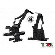 Spallaccio Porta MP5 con Porta Triplo Caricatore Nero O verde OD Vega Holster Italia  Art. 2V70