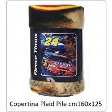 Coperta Plaid Pile Copertina Fleece Jeff Gordon cm 160x125 Art.313251-2601