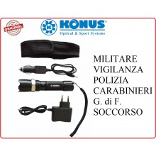 Torcia Ricaricabile Konus Originale 200 Lumen Professionale Carabinieri Vigilanza PS Art.3909