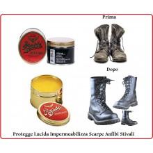 Grasso per Scarpe Scarponcini ed Anfibi Tecnici o Militari Rapide Impermeabilizza Lucida Protegge Neutro  Art. 239172