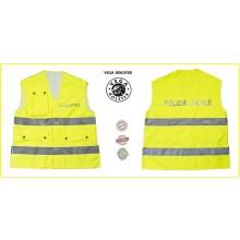 Corpetto Fratino Alta Visibiltà  con Stampa Rifarngente Polizia Locale  Avanti e Retro VENDITA RISERVATA Vega Holster Italia Art.4AV15