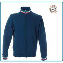 Felpa Maglione con Cerniera e Bordino Tricolore New Venezia Blu Navy Art.987855