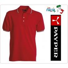 Polo Manica Corta Rossa Modello Italia Tricolore Neutra Italia Red Payper Art.988444