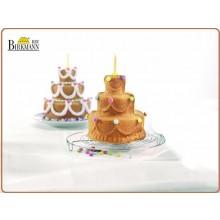 Stampo Professionale 3D Antiaderente per Dolci Torta di Compleanno Happy Birthday Birkeman Art.BIR5520483