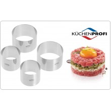 Coppapasta Coppa Pasta Formine ad Anello set 4 pezzi Inox 2 pezzi 8 cm  2 pezzi  6 cm - 2 Professionale Kuchenprofi Art.0905002804