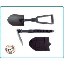 Badile Pala Pieghevole Modello Militare Nera con Custodia Cordura Soccorso Emergenza Protezione Civile Art.431132
