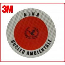 Adesivo 3M Per Paletta Rosso A.I.N.A. Nucleo Ambientale Art.R0007