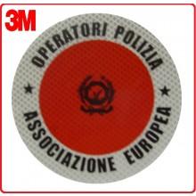 Adesivo 3M Per Paletta Rosso A.E.O.P. Associazione Europea Operatori di Polizia Art.R0012
