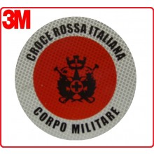 Adesivo 3M Per Paletta Rosso Croce Rossa Italiana C.R.I. Corpo Militare Art.R0016