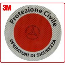 Adesivo 3M Per Paletta Rosso Protezione Civile Operatori Sicurezza  Art.R0021
