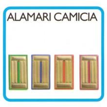 Alamari Mostrine Metallo Fondo Oro Camicia Scegli il colore Art.FAV-NE