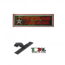Patch Croce Rossa Italiana Corpo Militare CRI C.R.I. con Velcro Vegetata  Art.TUS-CRIM