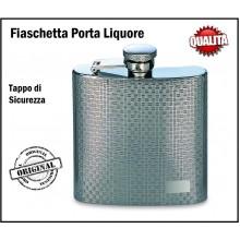 Elegantissma Fiaschetta da Tasca Porta Liquori o Whisky  8 oz Art.B1692