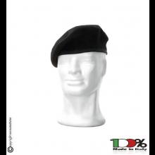 Basco Spagnolo Nero Bordo Tessuto Carabinieri Esercito Vigilanza FAV o DIADEMA Italia  Art.FAV-B-N
