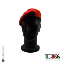 Basco Spagnolo Rosso Bordo Tessuto Carabinieri Sicurezza Vigilanza FAV Italia  Art.FAV-R