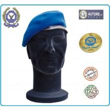 Basco Spagnolo Azzurro Bordo Tessuto con Fregio Metallo AEOP A.E.O.P. FAV Italia Art.FAV-AEOP-B