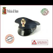 Berretto Tesa Ordinanza Polizia di Stato PS Con Fregio  FAV Autore VENDITA RISERVATA Art.BER-PS-U