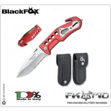 Coltello Serramanico Emergenza Soccorso 118 Vigili Del Fuoco Protezione Civile Croce Rossa Tactical Knife Fox Maniago Italia BF117 BF 117 Art. BF-117