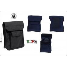 Borsetto Doppia Tasca Vega Holster  Italia Nero Verde Blu Porta Oggetti da Cinturone Art.2G62