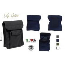 Borsetto Doppia Tasca Vega Holster  Italia Nero Verde Blu Porta Oggetti da Cinturone Art. 2G62