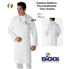 Camice Professionale Dottore Siggi Bianco Personalizzabile STELVIO Art.16CA022