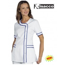 Casacca Camice Professionale Brasilia Bianca Blu Isacco Art.005806
