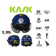 Casco Blu Protezione per Operatori di Protezione Civile PLASMA PC KASK ITALIA Art. WHE00014