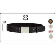 Cinturone Cintura in Cuoio con Doppi Fori e Pomello per Divise e Fondina H5 Vega Holster Italia  Vigilanza Polizia Carabinieri Art.1V57