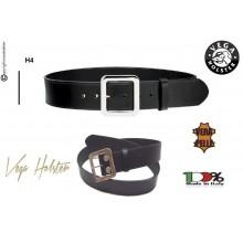 Cinturone Cintura in Cuoio con Rinforzo in Zona Fondina H4 Nera Vega Holster Italia Polizia Carabinieri Vigilanza  Art.1V51