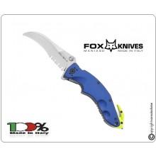 Coltello Serramanico Emergenza Soccorso Protezione Civile FOX Sierra Rescue Maniago Italia Art.FX-151R