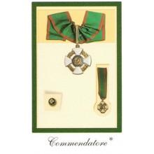 Set Medaglie Commendatore COMPLETO COMMENDATORE dell'Ordine della Repubblica OMRI Medaglia + Spilla Art.FAV.38