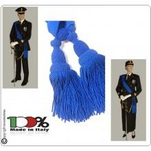 Fascia Blu da Ufficiali Cerimonia con Pom Pom Finale Esercito Carabinieri Marina G. di F. Polizia di Stato Art.NSD-F1B