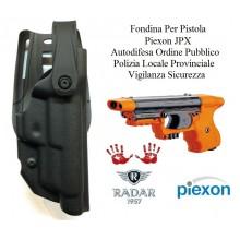 Fondina Polimeri Nera Per Pistola Piexon JPX Jet Laser e Standard Polizia Locale Provinciale Ordine Pubblico Radar 1957 Art. 6416-3606SN