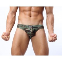 Mutande Slip Uomo Eros Mimetico Woodland Militare Idea Regalo Art.ALI-SLIP