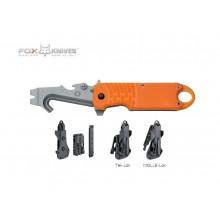 Coltello Multiuso Emergenza Soccorso FOX E.R.T. RESCUE KNIFE ORANGE FX 211 Art. FX-211