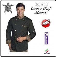 Giacca Cuoco Chef Maori Nero + Verde Isacco Professionali Art.059292
