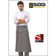 Giacca Cuoco Chef ANDRIAN Profili Grigio Siggi Horeca Personalizzata con il Tuo Nome Ricamato Art.28GA0193